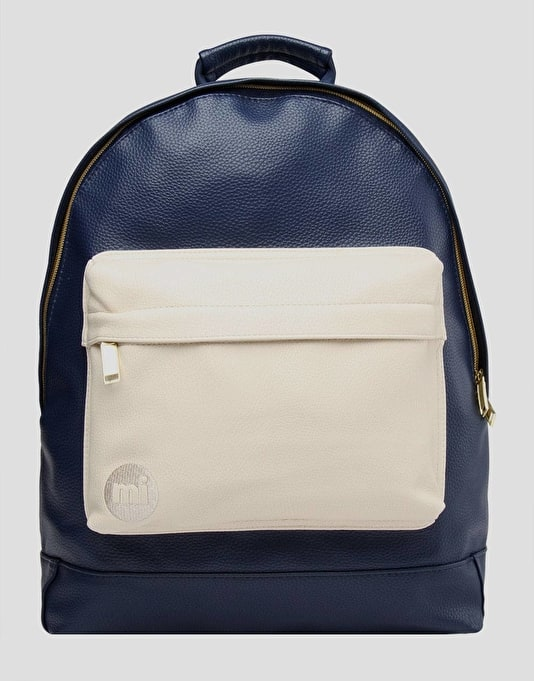 Mi-Pac Tumbled Tonal Backpack - Navy/Cream