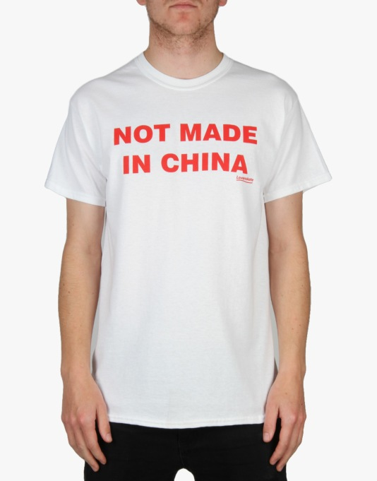 Lovenskate Not Made In China T-Shirt - White