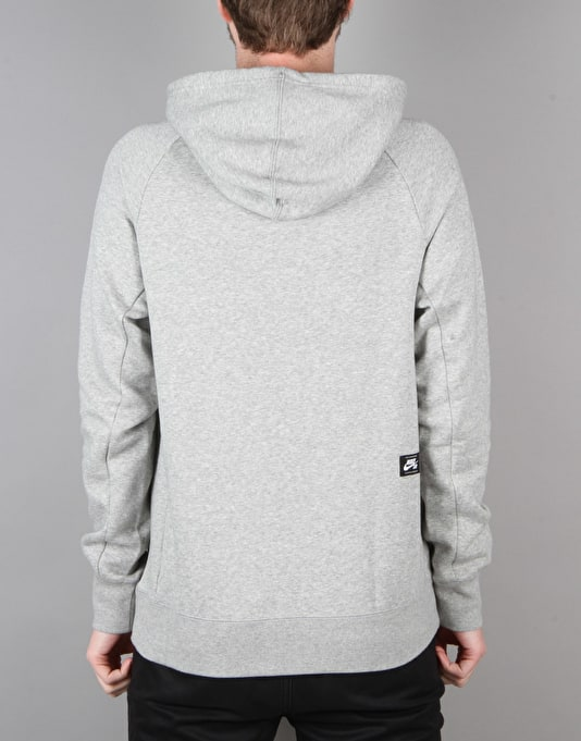 Nike SB Icon Cherry Blossom Pullover Hoodie - Dk Grey Heather/Black