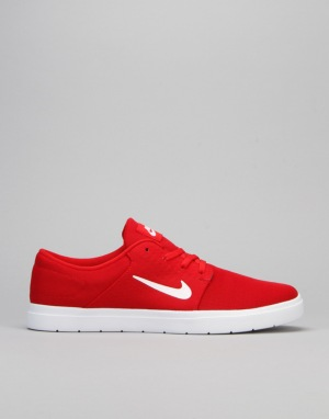 Nike SB Portmore Ultralight Skate Shoes - University Red/White-Gym Red