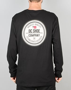 DC Circular Seal L/S T-Shirt - Black