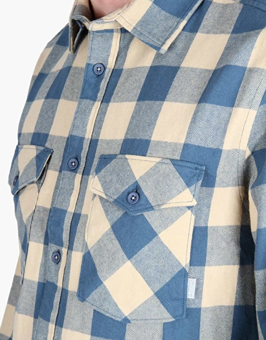 Etnies Dobbsyn Flannel L/S Shirt - Blue/Tan