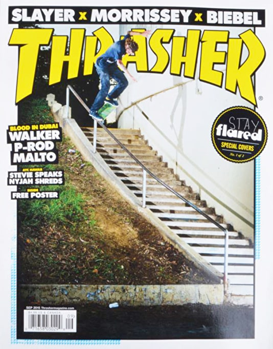 Thrasher Magazine Issue 422 September 2015 - Stay Flared Cover 1 of 2