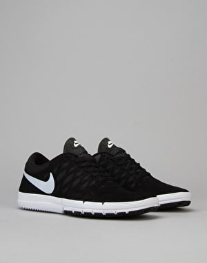 Nike SB Free SB Skate Shoes - Black/White-Black