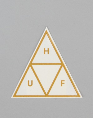 HUF Triple Triangle Sticker - Gold
