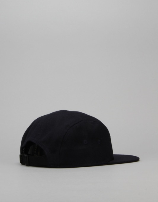 Route One Box Logo 5 Panel Cap - Navy
