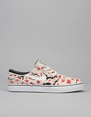 Nike SB Zoom Stefan Janoski Elite Skate Shoes - Sail/White/Brown
