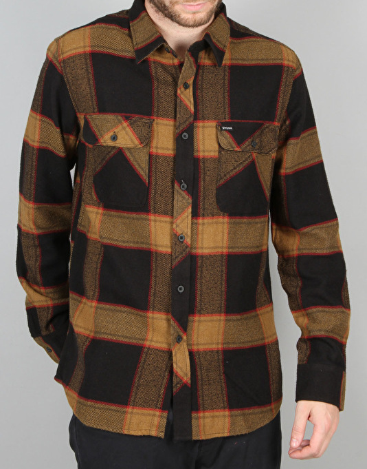 Brixton Bowsey Flannel L/S Shirt - Black/Gold