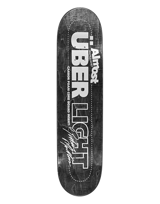 Almost Mullen Über Light Silver Ops Skateboard Deck - 8""