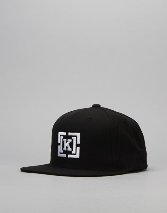 Kr3w Bracket Snapback Cap - Black/White