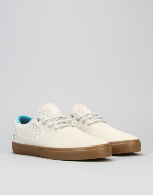 éS Accel Sq Skate Shoes - White Gum