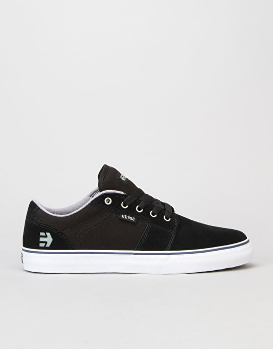 Etnies Barge LS Skate Shoes - Black/White