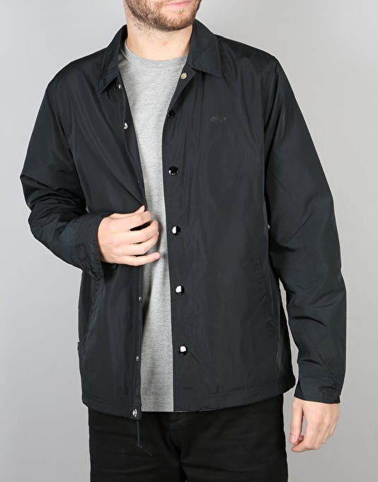 Obey Baker Graphic Coach Jacket - Black