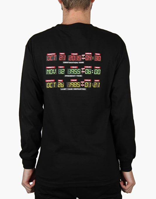 The Hundreds x Back to the Future 88 L/S T-Shirt - Black