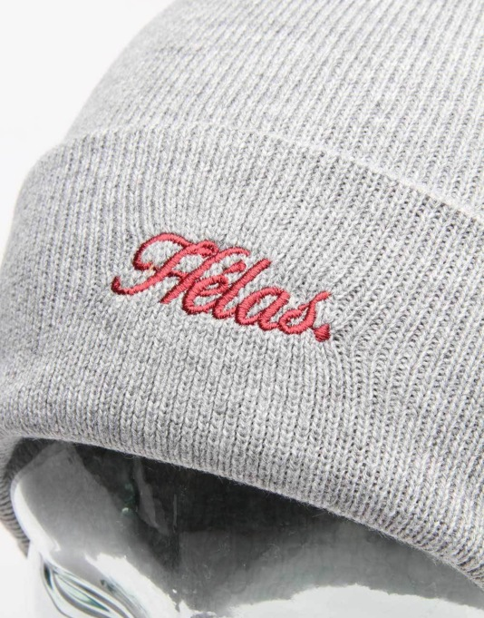 Hélas Embroidered Beanie - Grey