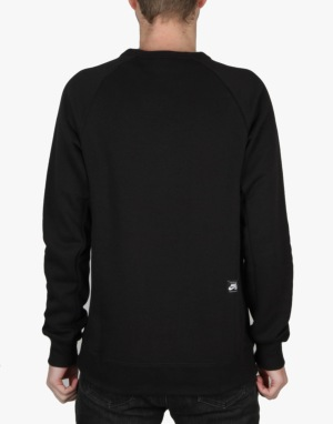 Nike SB Icon Crew Sweatshirt - Black/White