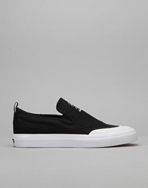 Adidas Matchcourt Slip Skate Shoes - Black/Black/White