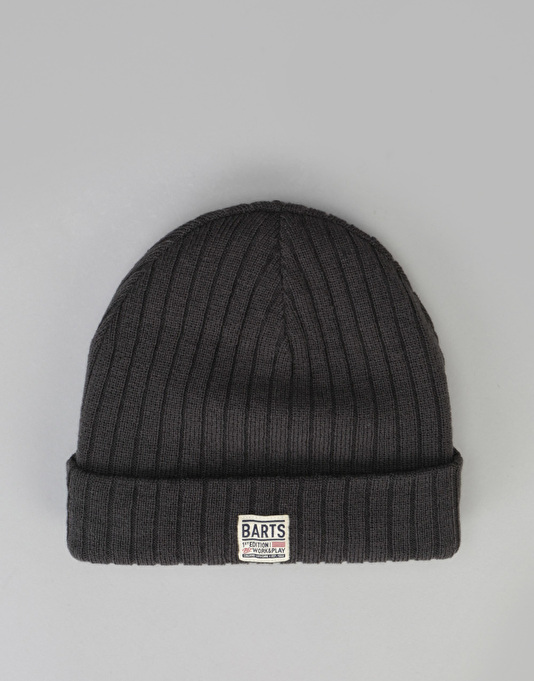 Barts Parker Beanie - Charcoal