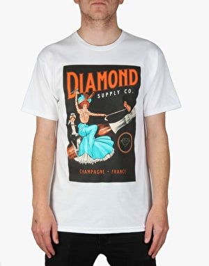 Diamond Champagne France T-Shirt - White