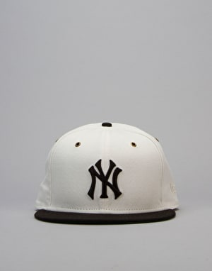 New Era MLB NY Highlanders Duck Canvas Snapback Cap - White/Navy