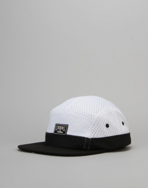 Crooks & Castles Core Logo 5 Panel Cap - White/Navy