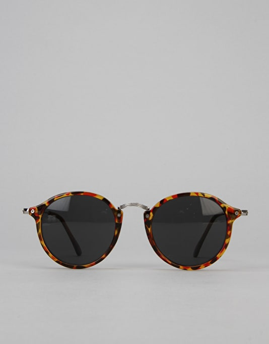 Route One Basics Round With Metal Arms Sunglasses - Tortoise