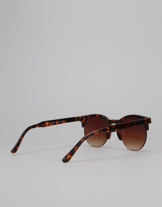 Route One Clubmaster 2.0 Sunglasses - Tortoise