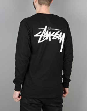 Stüssy Original Stock L/S T-Shirt - Black