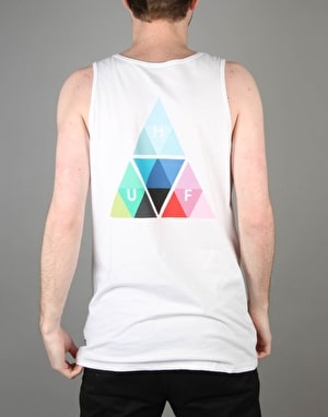 HUF Triangle Prism Tank - White