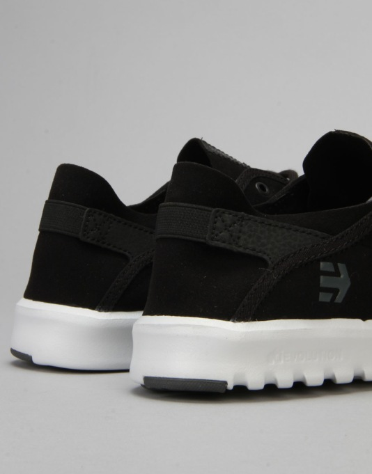 Etnies Scout Shoes - Black/Dark Grey