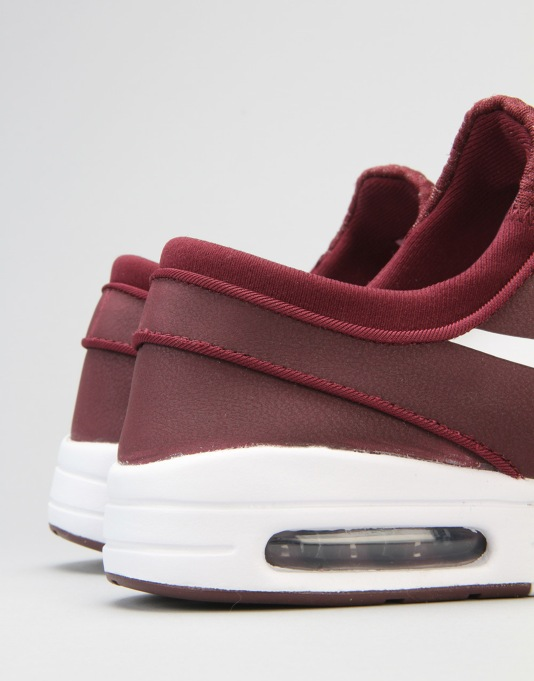 Maroon Nike Skate Shoes
