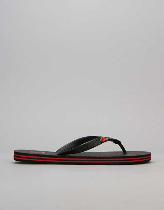DC Spray Flip Flops - Rasta