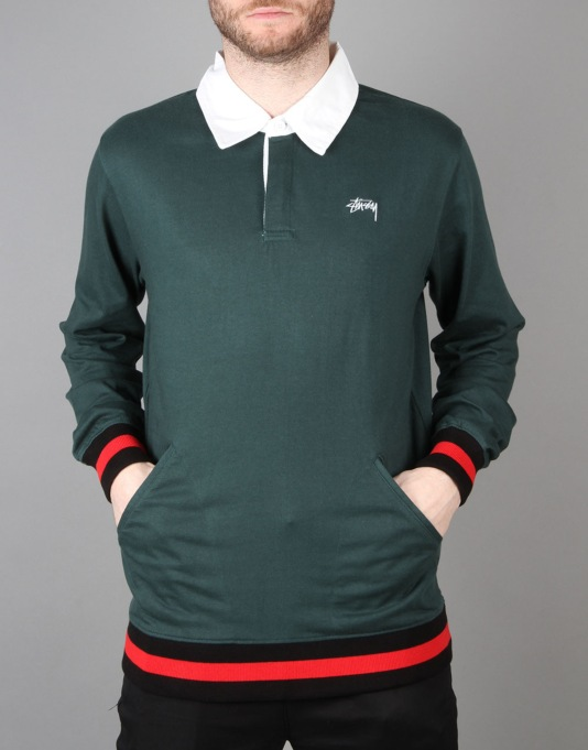 Stüssy Pocket Rugby Shirt - Green
