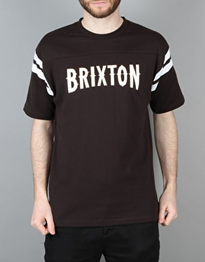 Brixton Benson S/S Knit T-Shirt - Black/White