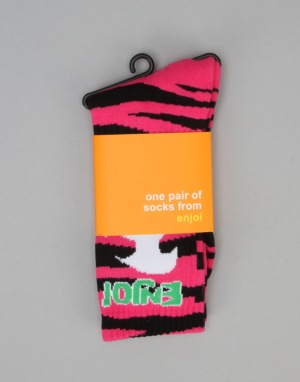 Enjoi Animal Socks - Pink