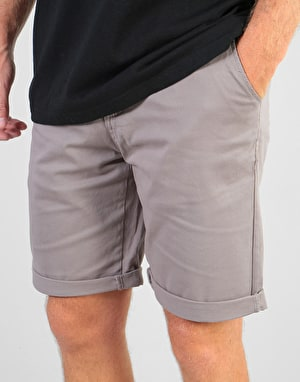 Route One Roll Up Chino Shorts - Grey