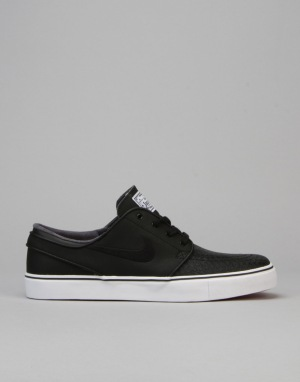 Nike SB Zoom SB Stefan Janoski L Skate Shoes - Black/Black- White Red