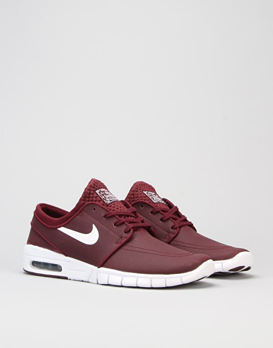 Nike SB Stefan Janoski Max L Shoes - Night Maroon White