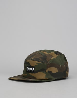 Thrasher Logo 5 Panel Cap - Camo