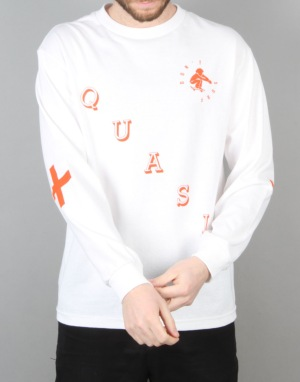 Quasi Sefer L/S-Shirt - White