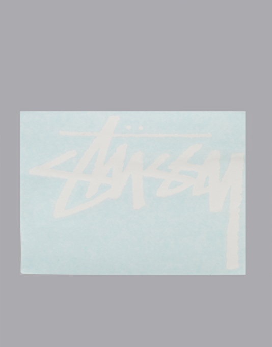 Stüssy Original Stock Decal - White
