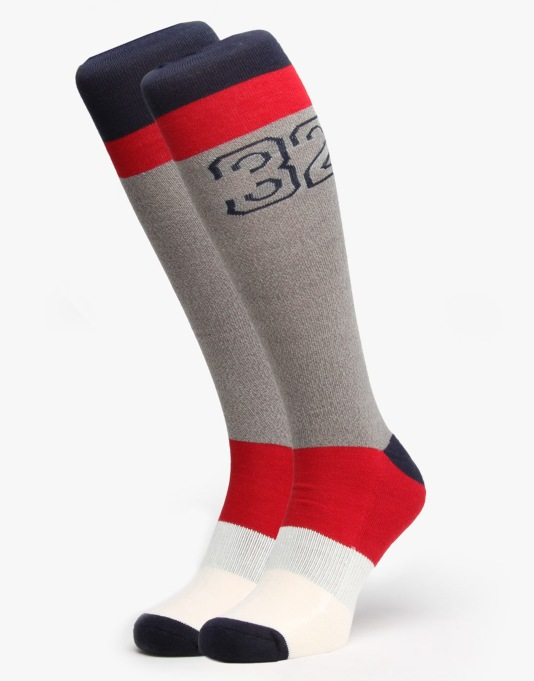 Thirty Two Tolusa Snowboard Socks - Grey Heather