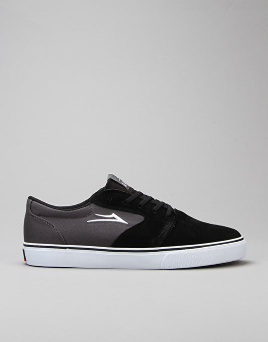 Lakai Fura Skate Shoes - Black/Grey Suede