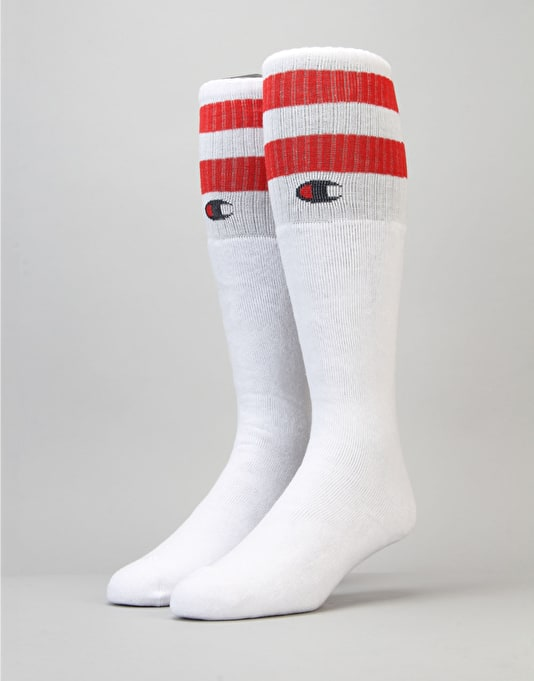 Champion Tube Knee High Socks - WHT