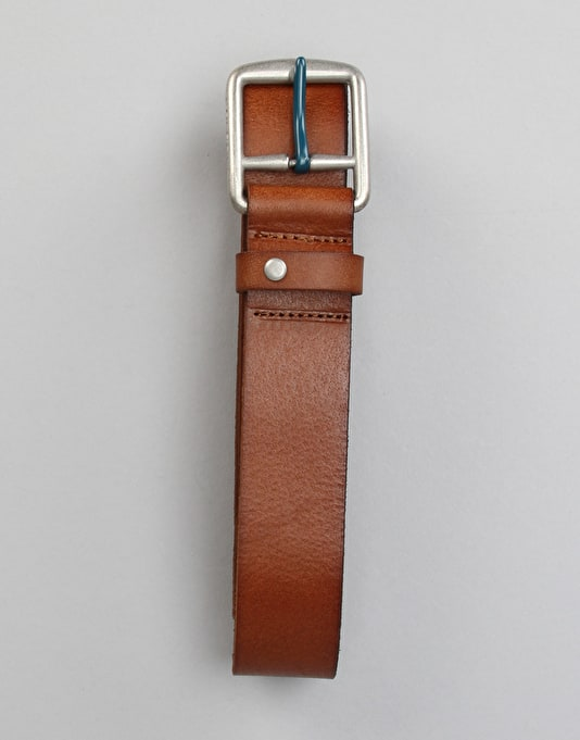 Volcom Thrift Leather Belt - Brown