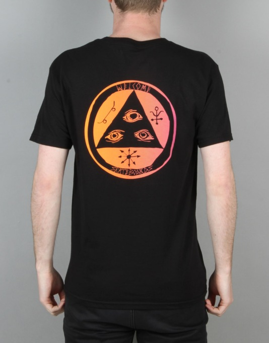 Welcome Talisman Gradient T-Shirt - Black/Orange/Pink