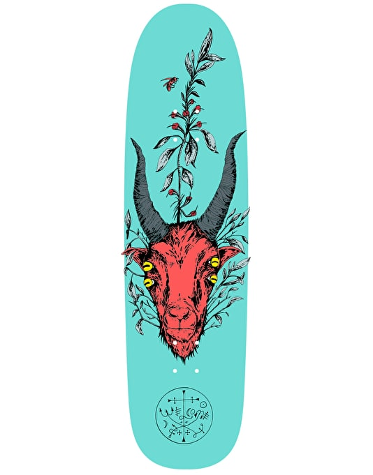 Welcome Goathead on Waxing Moon Team Deck - 8.5""
