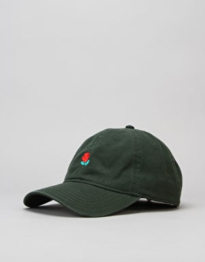 The Hundreds Rose Strapback Cap - Dark Green