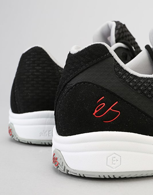 éS Sesla Skate Shoe - Black/Grey/Red