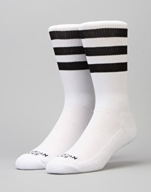 American Socks Old School II Mid High Socks - White/Black